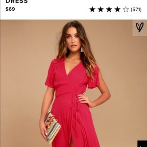 Red Wrap Maxi Dress